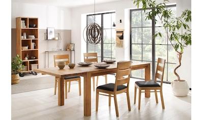 Home affaire Essgruppe »Nils 5«, (Set, 5 St., Tisch 180/90 cm, 4 Stühle, Polstersitz),... kaufen