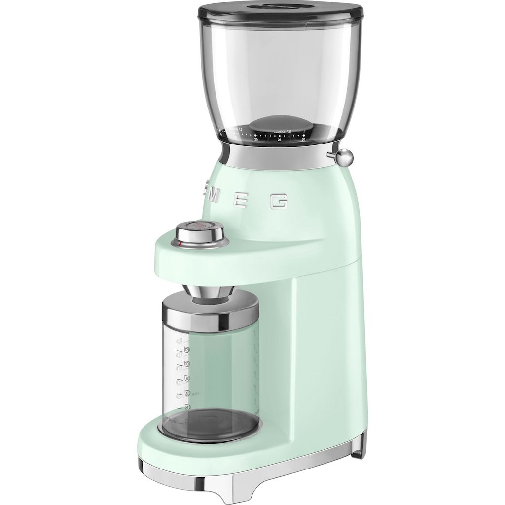 Smeg Kaffeemühle »CGF01PGEU«, 150 W, Kegelmahlwerk, 350 g Bohnenbehälter