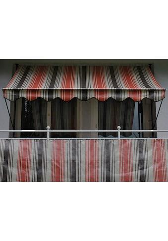 Angerer Freizeitmöbel Balkonsichtschutz »Nr. 5100«, Meterware, rot/beige/braun, H: 75 cm kaufen