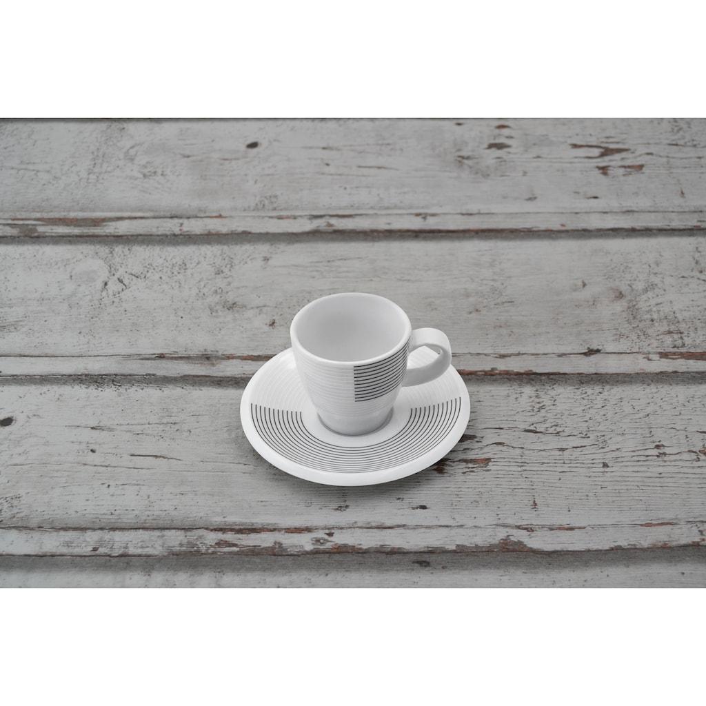 Retsch Arzberg Espressotasse »Novo Ultra«, (Set, 12 tlg.), 6 Tassen, 6 Untertassen