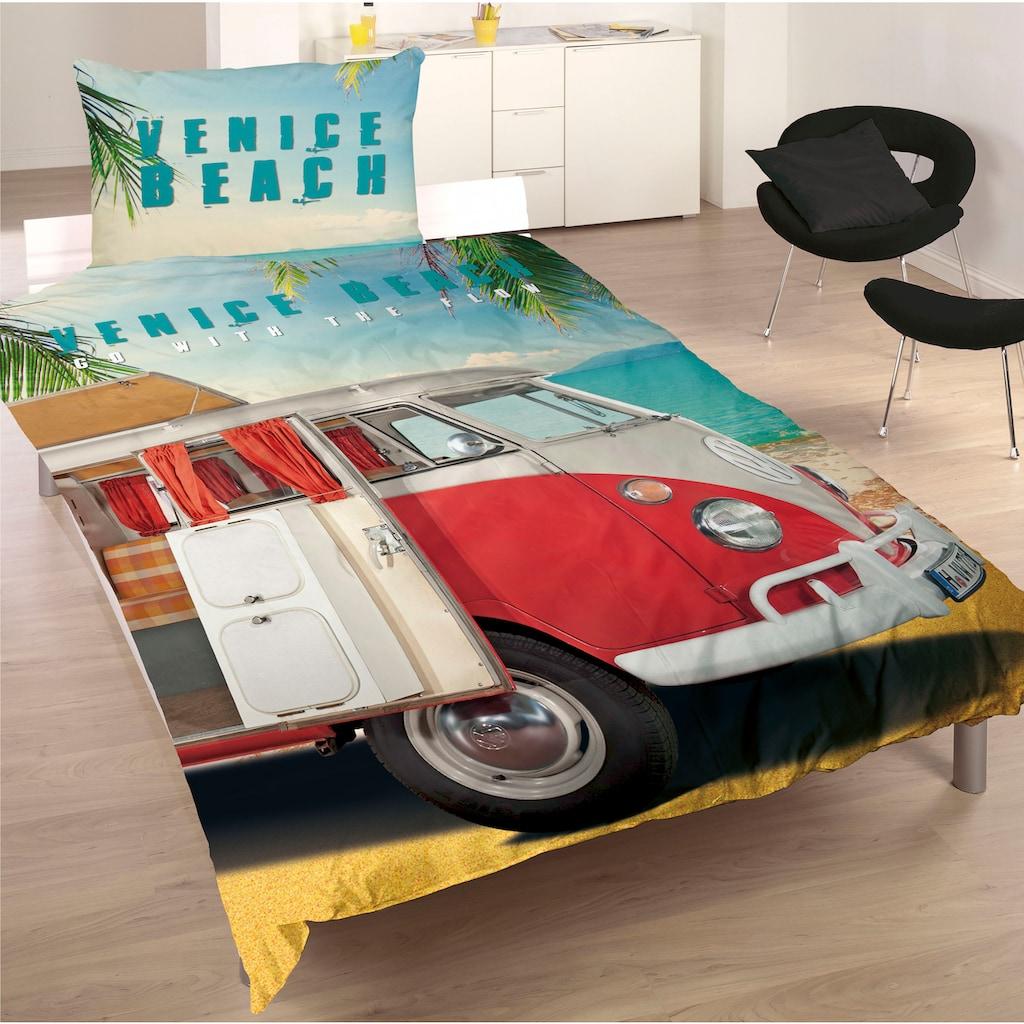 Volkswagen Wendebettwäsche »Venice Beach«, mit Auto