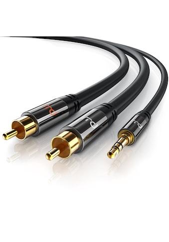 Primewire Stereo HiFi Audio-Adapter mehrfach geschirmt »2x Cinch zu 3,5mm AUX Klinke /... kaufen