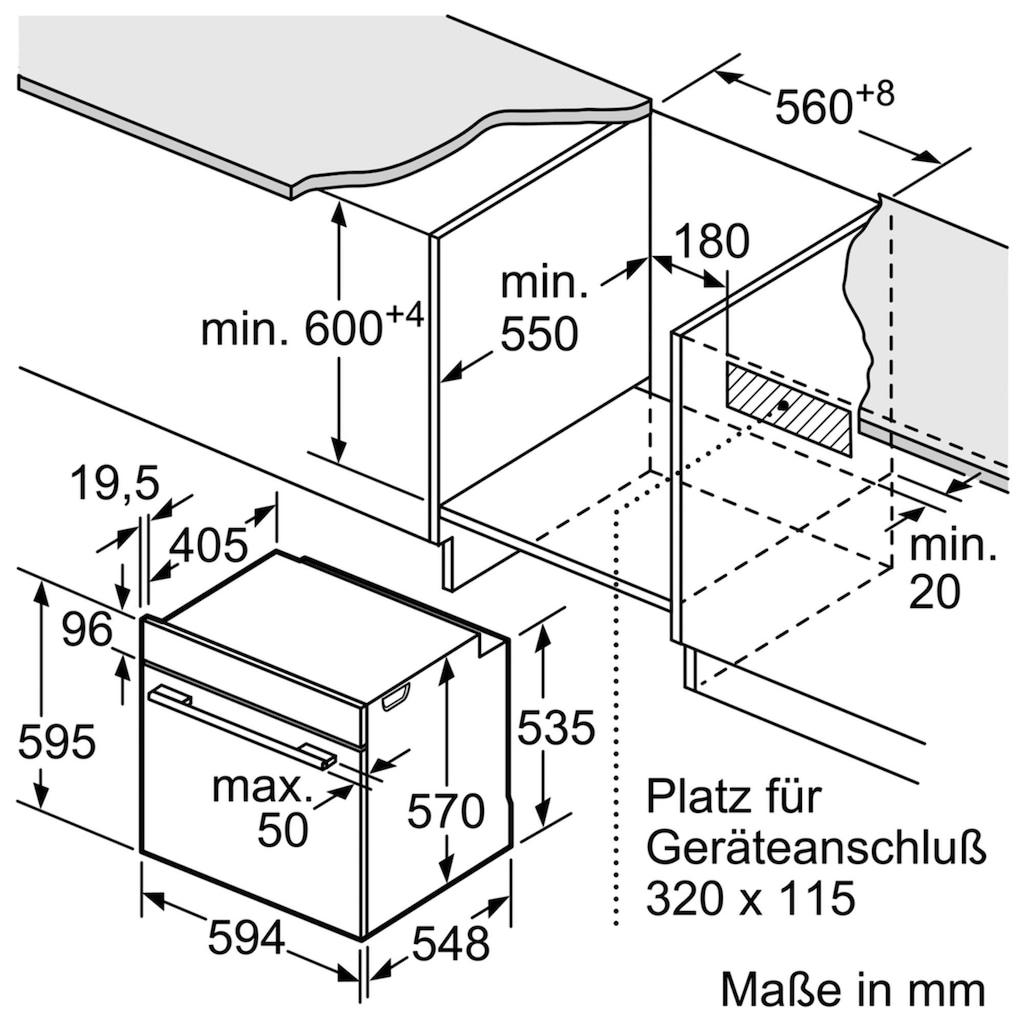 SIEMENS Elektro-Herd-Set »PQ521KA0V«, HE578ABS0, mit Teleskopauszug nachrüstbar, Pyrolyse-Selbstreinigung, (Set), mit 3D-Heißluft Plus