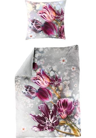 BIERBAUM Wendebettwäsche »Tuli«, mit Tulpen kaufen