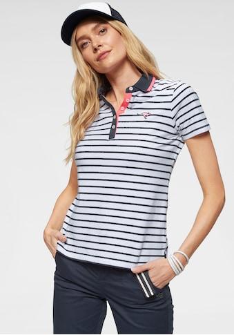 KangaROOS Poloshirt, im modischem Streifen-Look mit kontrastfarbenen Details kaufen