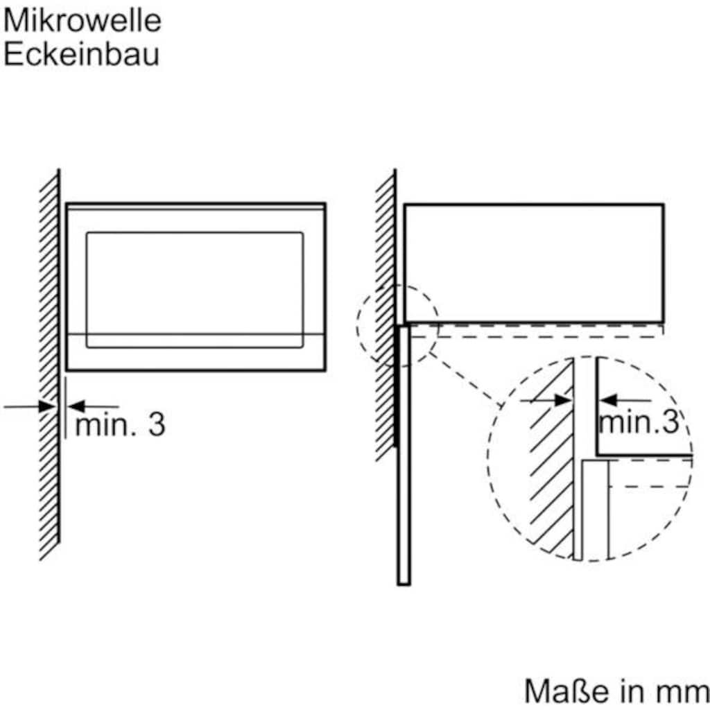 SIEMENS Einbau-Mikrowelle »BF525LMS0«, Mikrowelle, 800 W