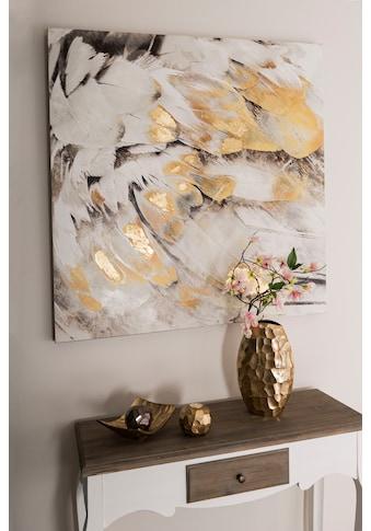Home affaire Ölbild »Feder«, Maße (B/T/H): 100/3/100 cm kaufen