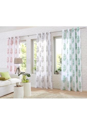 Home affaire Gardine »Terni«, transparent, bedruckt, waschbar kaufen