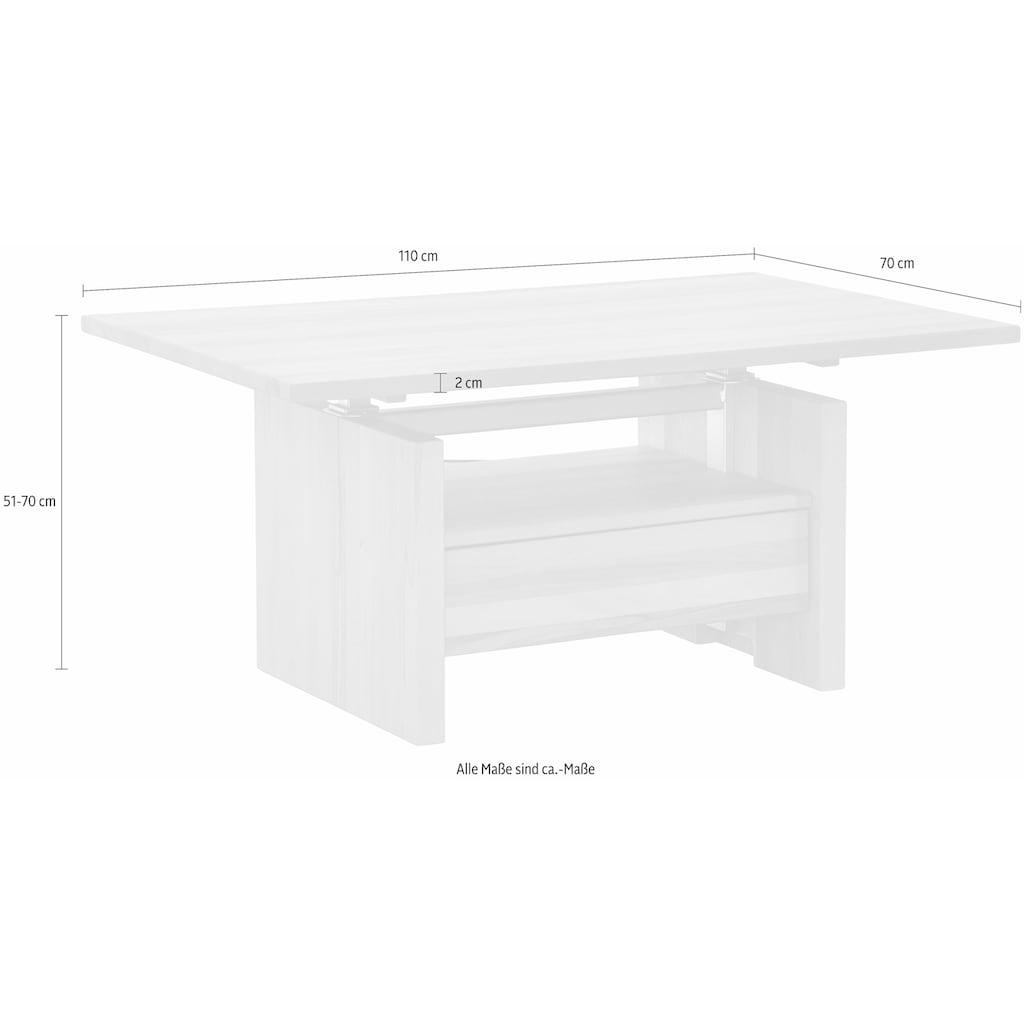 Premium collection by Home affaire Couchtisch »Hamilton«, höhenverstellbar von 51 auf 70 cm
