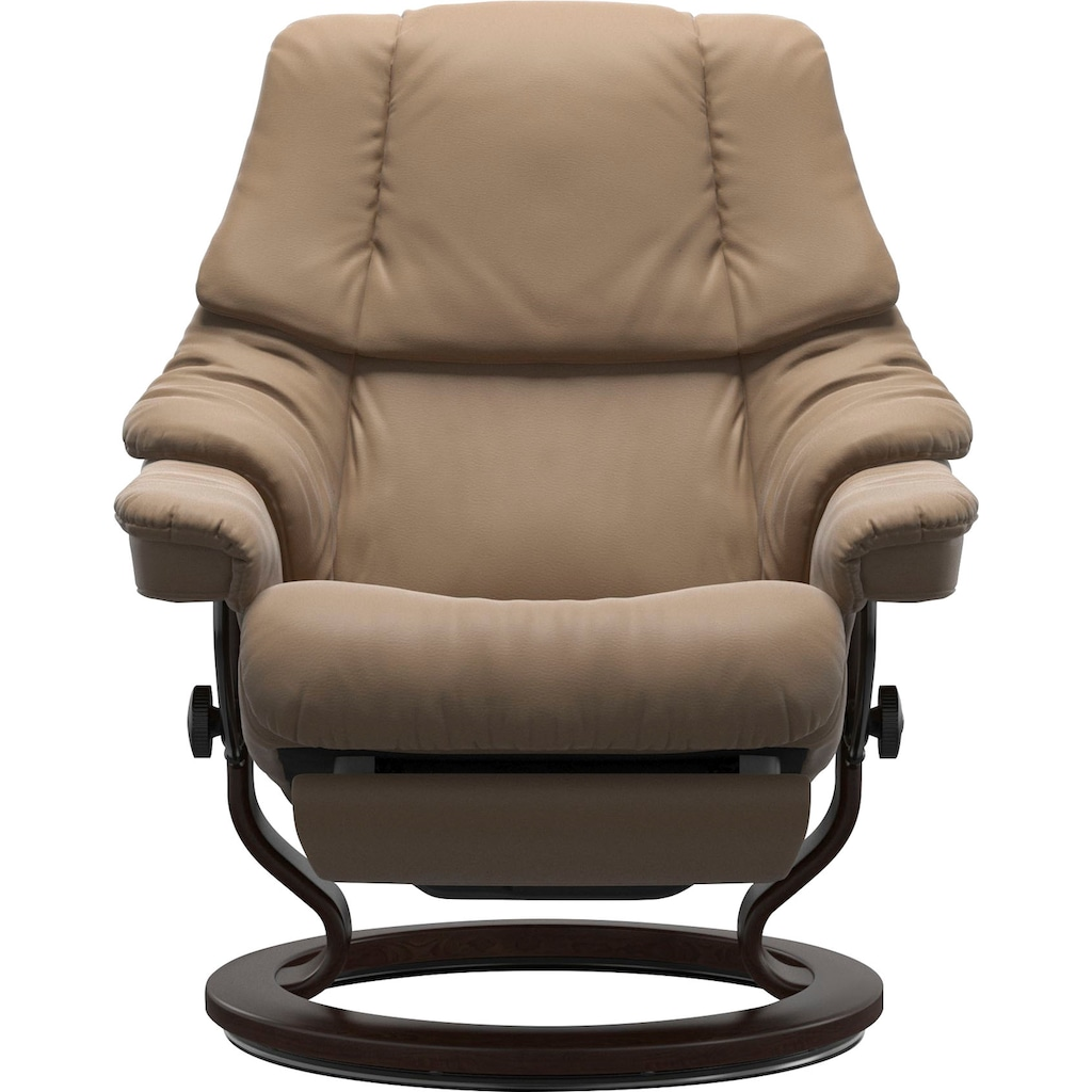 Stressless® Relaxsessel »Reno«, mit Classic Base und Power™, elektrisch verstellbar, optional 2-motorisch, Größe M & L, Gestell Braun