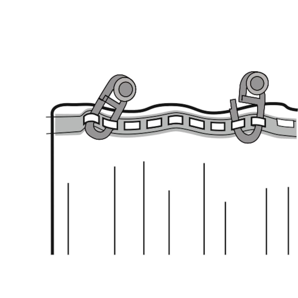 WILLKOMMEN ZUHAUSE by ALBANI GROUP Vorhang »Sol«, Schal mit Kräuselband