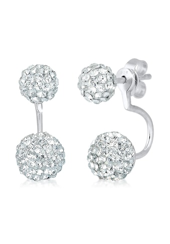 Elli Paar Ohrhänger »Front-Back Earjacket Kristalle Silber« kaufen