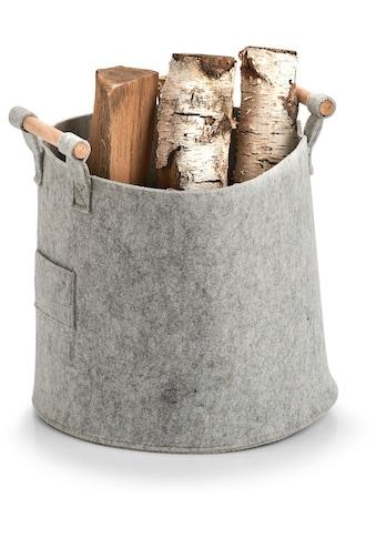 Zeller Present Aufbewahrungskorb »Aufbewahrungskorb, Filz/Holz, grau«, (1 St.) kaufen