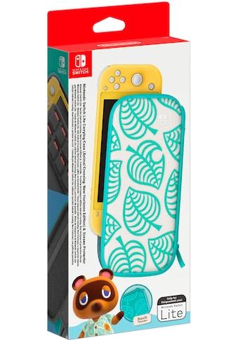 Nintendo Switch Spielekonsolen-Tasche »Switch Lite Animal Crossing Edition + Schutzfolie« kaufen