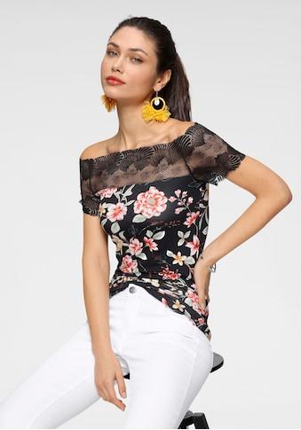 Melrose Carmenshirt, mit Spitze in Muschel-Optik kaufen