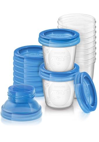 Philips AVENT Aufbewahrungssystem »SCF618/10«, (Set, 10 tlg.), Mehrwegbecher für Muttermilch inkl. Deckel und Adapter kaufen
