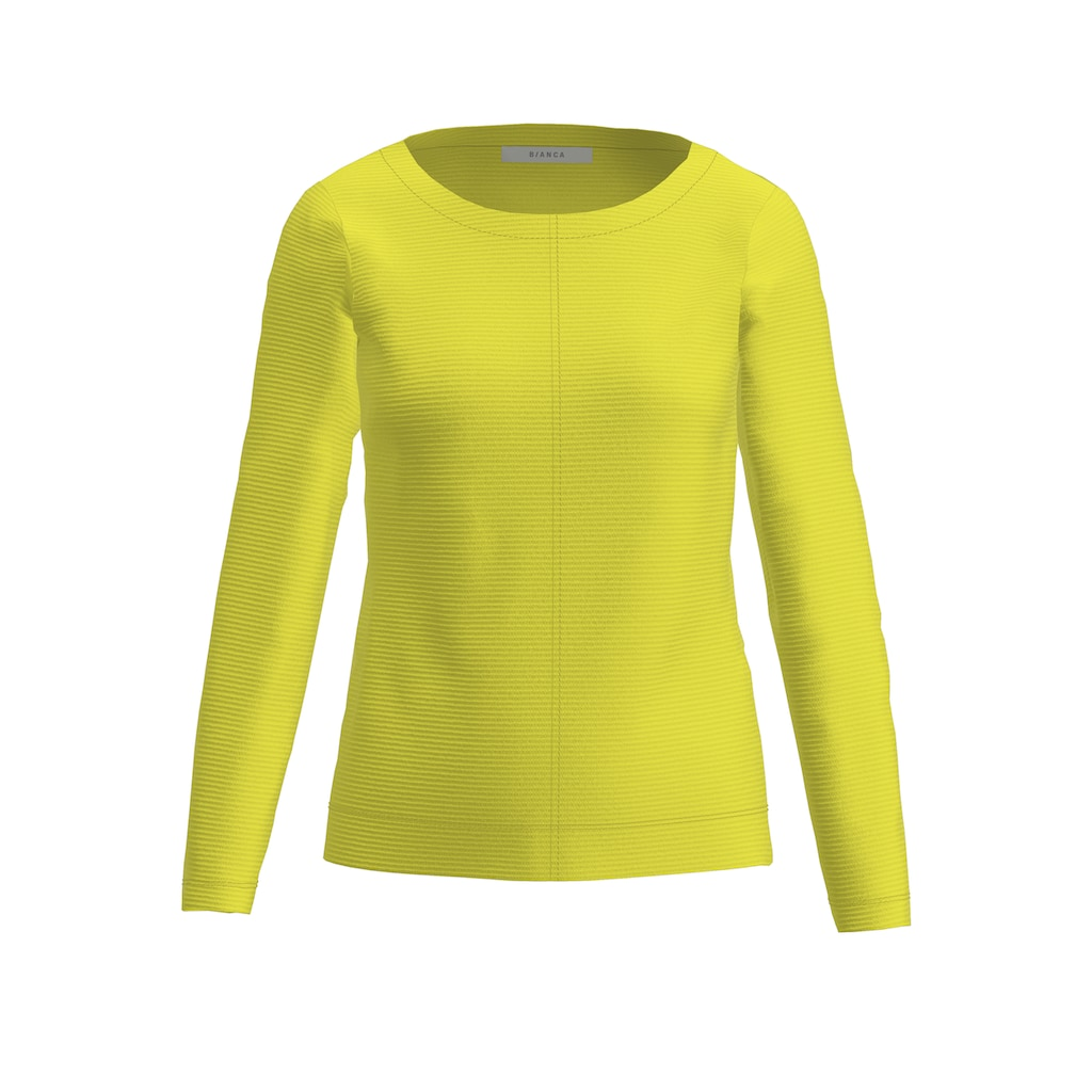 bianca Sweatshirt »DAMI«, in trendiger Ripp-Struktur