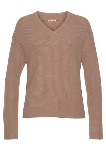 TOM TAILOR V-Ausschnitt-Pullover, mit Glitzerdetails kaufen