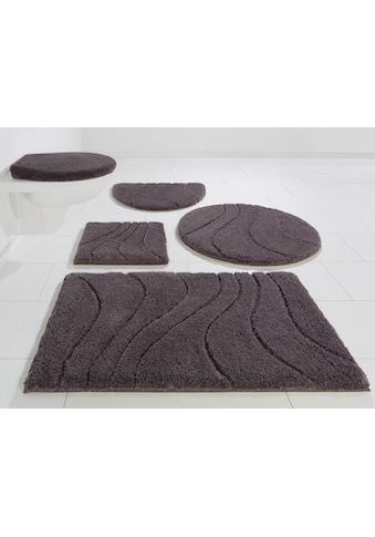 Home affaire Badematte »Lola«, Höhe 22 mm, rutschhemmend beschichtet, fußbodenheizungsgeeignet, Hoch-Tief kaufen