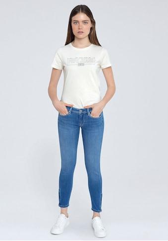 Pepe Jeans Skinny-fit-Jeans »LOLA ZIP«, mit normaler Leibhöhe, Zippern am Saum und... kaufen