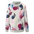 MYBC Sweatshirt »Sweatshirt«, mit Blüten-Motiven