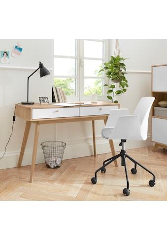 my home Schreibtisch »Finnley«, erstrahlt in einer schönen Holzoptik, mit abgerundeten... kaufen