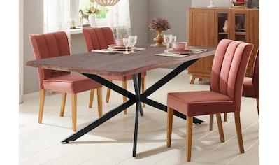 Home affaire Esstisch »Austin«, mit einem außergewöhnlichen Beinuntergestell aus... kaufen