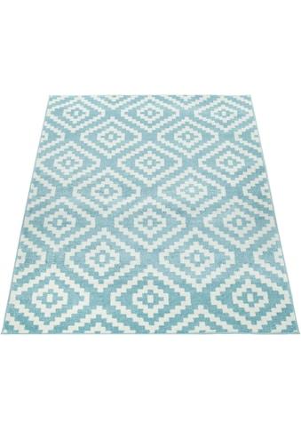 Paco Home Teppich »Stella 400«, rechteckig, 12 mm Höhe, Kurzflor, Rauten Design,... kaufen