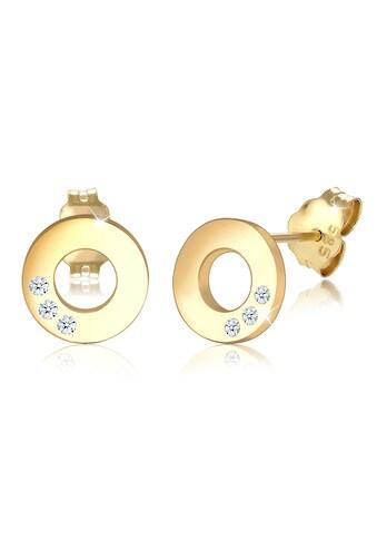 Diamore Paar Ohrstecker »Kreis Geo Elegant Diamant (0.03 ct.) 585 Gelbgold« kaufen