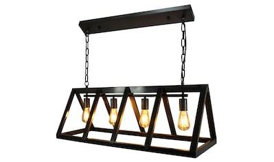 Brilliant Leuchten Matrix Pendelleuchte 4flg schwarz stahl kaufen