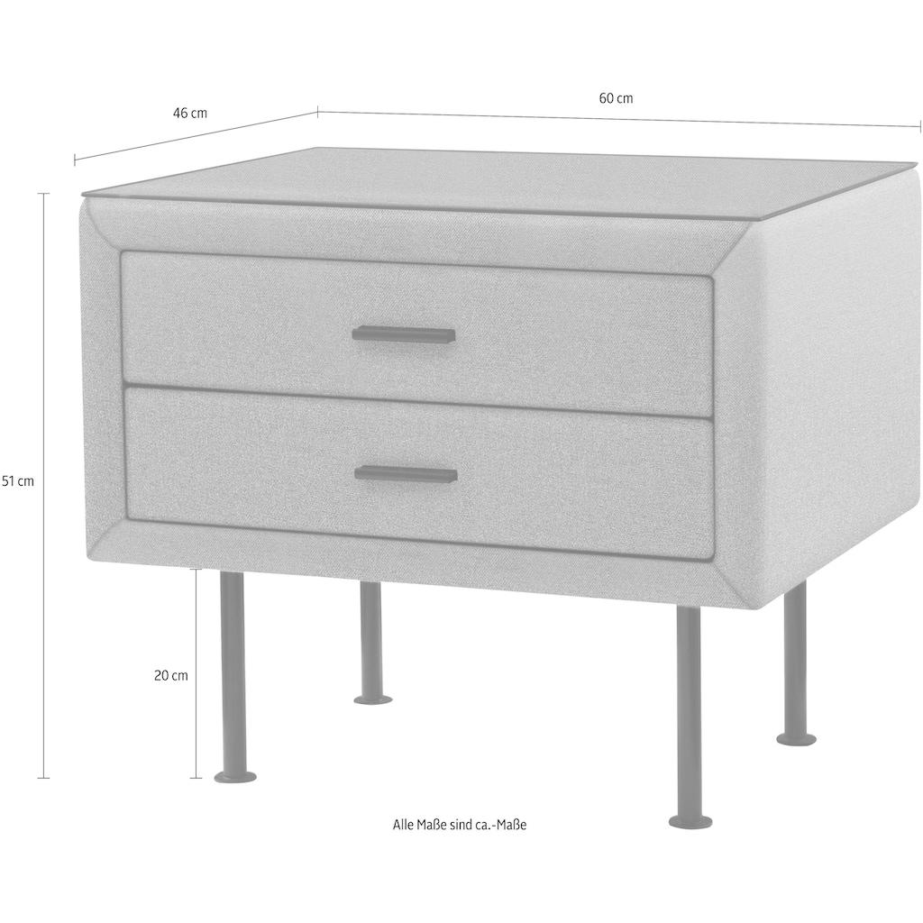 ADA premium Nachttisch »817«, mit Glasplatte