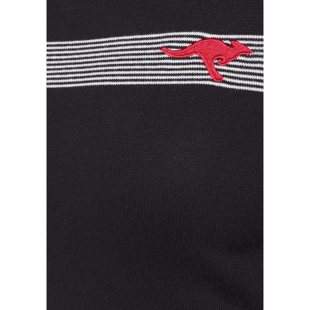 KangaROOS Strickkleid, mit Streifen-Details im Color Blocking Style