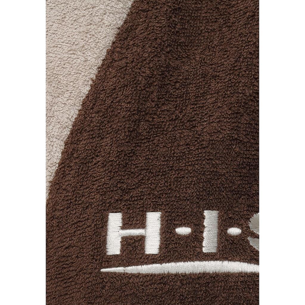 H.I.S Unisex-Bademantel »Hannes«, (1 St.), mit farblich abgesetzten Gürtel und Kragen