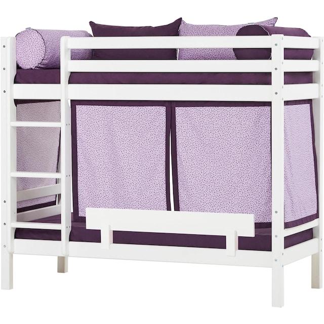Hoppekids Etagenbett »Beautiful Bloom« (Set, 4 Teile, Bett, Vorhang und zwei Matratzen)