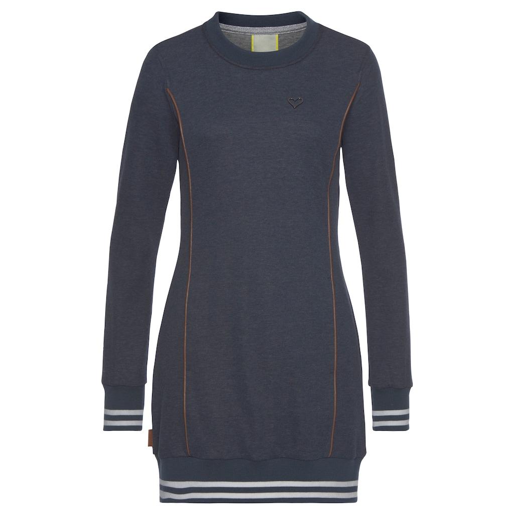 Alife & Kickin Sweatshirt »DarliAK«, trendy Longsweater mit Kontrastsreifen