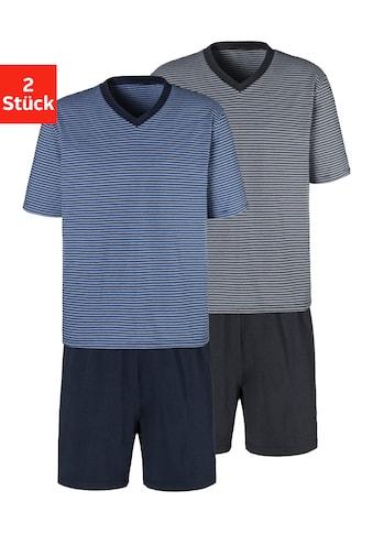 le jogger® Shorty, (Packung, 2 Stück), garngefärbter Streifen kaufen