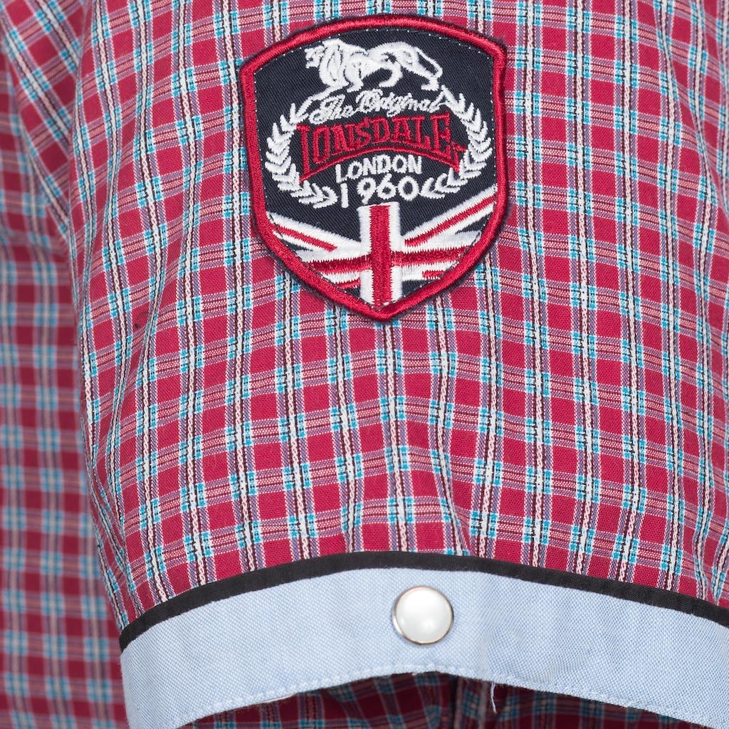 Lonsdale Kurzarmhemd »SHORTSLEEVE BERNY«, mit Karo-Muster