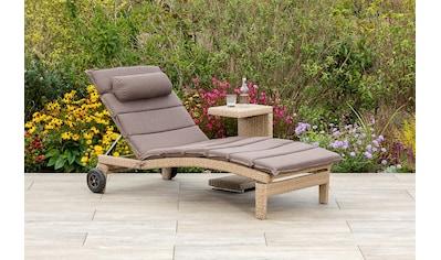 MERXX Gartenmöbelset »Andalusia«, (2 tlg.), Gartenliege mit Auflage und mit Beistelltisch kaufen