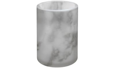 Kleine Wolke Zahnputzbecher »Marmor«, Accessoire Serie aus Glas mit Marmor Optik kaufen