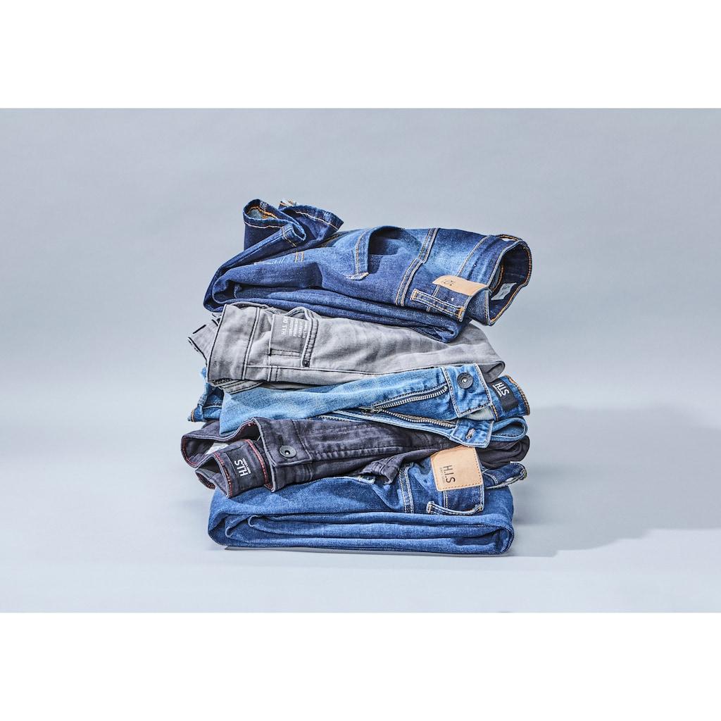 H.I.S Bootcut-Jeans »BOOTH«, (Set, mit abnehmbarem Gürtel), Nachhaltige, wassersparende Produktion durch OZON WASH