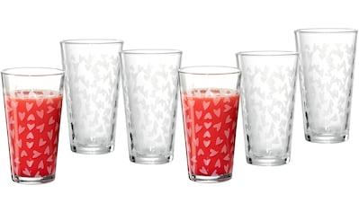 Ritzenhoff & Breker Longdrinkglas »Happy, Hearts«, (Set, 6 tlg., 6 Longdrinkgläser, je... kaufen