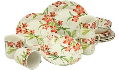 CreaTable Kombiservice »Summer Cottage«, (Set, 16 tlg.), elegantes Blütendekor kaufen