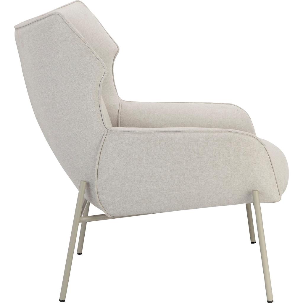 andas Polsterstuhl »Livby Chair«, Design by Morten Georgsen, Ohrensessel, Gestellfarbe Ton-in-Ton mit dem Polsterstoff