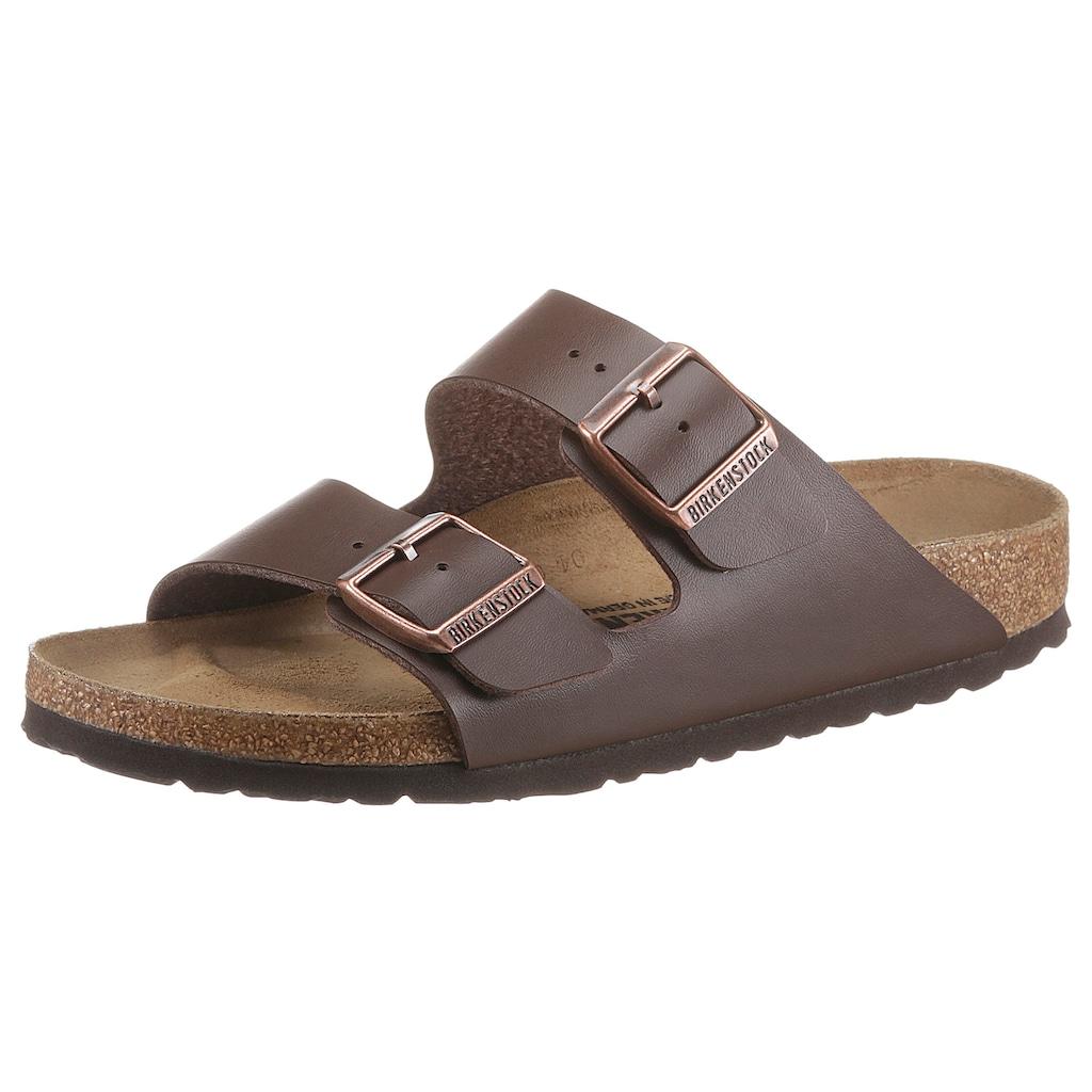 Birkenstock Pantolette »ARIZONA BF«, in Schuhweite schmal, mit ergonomisch geformtem Fußbett
