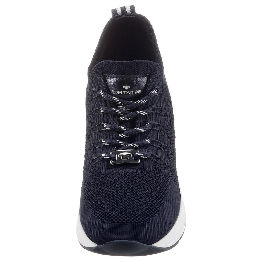 TOM TAILOR Keilsneaker, mit Metalli-Applikation im Absazt