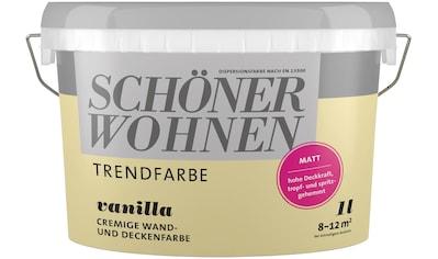 SCHÖNER WOHNEN-Kollektion Wand- und Deckenfarbe »Trendfarbe«, vanilla, 1 l kaufen