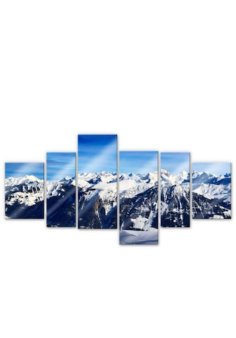 Wall-Art Mehrteilige Bilder »XXL Alpenpanorama (6-teilig)«, (Set, 6 St.) kaufen