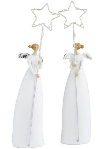 LED Dekofigur »Engelsstern«, Warmweiß, 2er Set, Höhe ca. 28 cm kaufen
