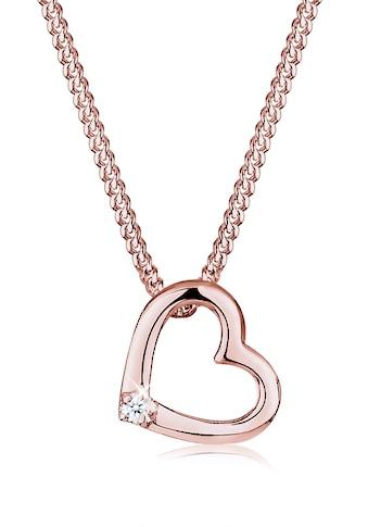 Diamore Collierkettchen »Herz Liebe Diamant (0.015 ct.) 925 Silber« kaufen