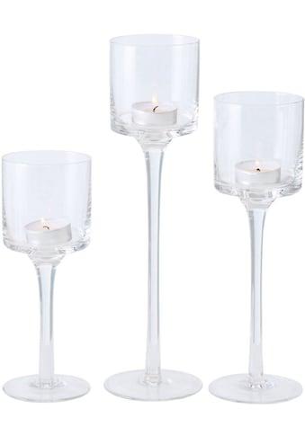 BOLTZE Windlicht »Arosa«, aus Glas, in unterschiedlichen Größen kaufen